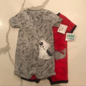 NWT Bundle of Carter's Button Up Rompers